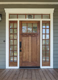 Exterior shot of a Wooden Front Door royalty free stock photography