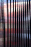 Exterior siding metal strip architecture. Royalty Free Stock Images