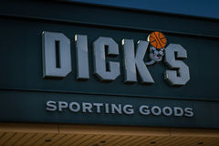 Exterior sign of Dicks Sporting Goods Store Royalty Free Stock Photo
