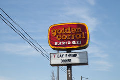 Exterior sign Golden Corral Buffet and Grill Stock Photography