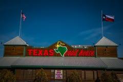 Exterior sign of Texas Roadhouse restaurant. Lancaster, PA - January 15, 2017: Exterior of Texas Roadhouse restaurant location. Texas Roadhouse is a chain stock photo