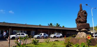 The exterior of the small Easter Island airport Mataveri International Airport, Chile stock image