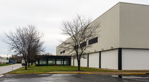 Exterior of small manufacturing plant Royalty Free Stock Image