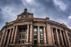 Exterior of the South Station, in Boston, Massachusetts. Stock Images