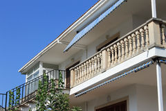 Exterior of Spanish home Stock Images