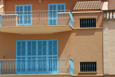 Exterior of Spanish homes Stock Image