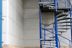 Exterior spiral staircase Royalty Free Stock Photography