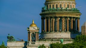 Exterior St. Isaac's Cathedral, Saint Petersburg, Russia stock footage