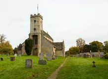 Exterior of St Mary Church Swinbrook Stock Image