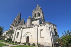Saint Oars Church, Loches. Exterior of St Oars Church in Loches, France Royalty Free Stock Images