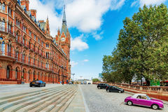 Exterior of St Pancras railway station royalty free stock images