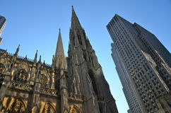 Exterior of St. Patrick's Cathedral, NYC Stock Image