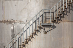 Exterior stairs of refinery industrial storage tank. Stock Images