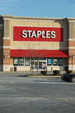 Exterior of Staples Office Superstore Stock Photography