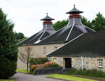Glenfiddich Distillery Scotland. Exterior of still house building . Glenfiddich is the most visited of all the whisky distilleries. Scottish Spey River Speyside stock photo