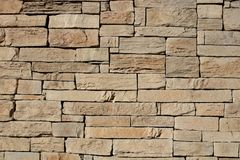 Exterior stone cladding. Background of stone cladding, close up Royalty Free Stock Photography