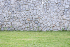 Exterior stone wall decorative in the garden Stock Image
