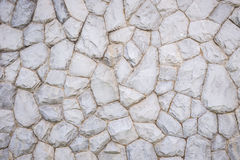 Exterior stone wall decorative in the garden Royalty Free Stock Photo