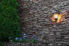Exterior stone wall. Stock Photos