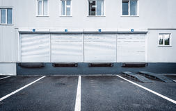 Exterior of the storage units. royalty free stock photo