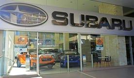 Exterior of Subaru dealership in Sydney CBD stock images