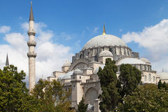 Exterior of the Suleymaniye Mosque Royalty Free Stock Photography