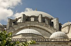 Exterior of the Suleymaniye Mosque in Istanbul. Istanbul, Turkey 10 August 2018. Exterior of the Suleymaniye Mosque stock photos