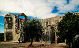 Exterior of Templar church of the Convent of the Order of Christ, Tomar, Portugal Royalty Free Stock Images