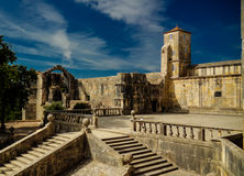 Exterior of Templar church of the Convent of the Order of Christ, Tomar, Portugal Royalty Free Stock Image