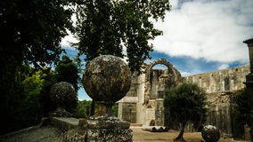 Exterior of Templar church of the Convent of the Order of Christ, Tomar, Portugal Stock Photography