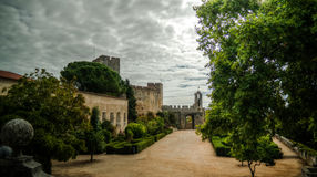 Exterior of Templar church of the Convent of the Order of Christ, Tomar, Portugal Stock Images