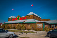 Exterior of Texas Roadhouse restaurant. Lancaster, PA - January 15, 2017: Exterior of Texas Roadhouse restaurant location. Texas Roadhouse is a chain restaurant stock images