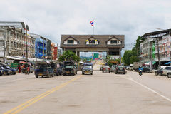 Exterior of the Thai-Myanmar border terminal in Mae Sot, Thailand. Royalty Free Stock Photo