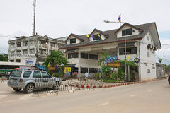 Exterior of the Thai-Myanmar border terminal in Mae Sot, Thailand. Stock Images