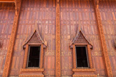 Exterior of Thai style window. Exterior of  Thai style window at the sub urban temple Stock Photo