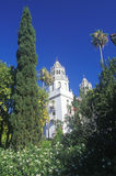 Exterior to the entrance to San Simeon, Hearst Castle, Casa Grande, CA Royalty Free Stock Images