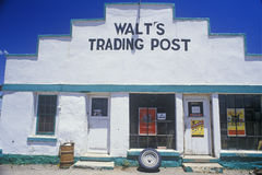 Exterior to Walt's Trading Post Stock Photo