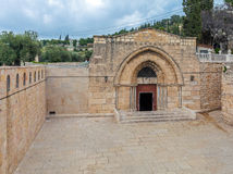 Exterior Tomb of the Virgin Mary, Kidron Valley, Jerusalem Royalty Free Stock Photography