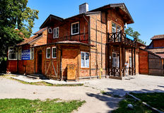 Exterior of a tourist information centre of Zelenograd city Royalty Free Stock Photos