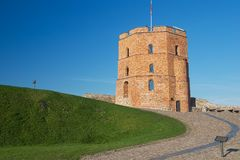 Exterior of the Tower of Gediminas in Vilnius, Lithuania. royalty free stock images