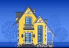 Exterior of townhouse Royalty Free Stock Image