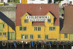 Exterior of the traditional wooden houses in Haugesund, Norway. Stock Photography
