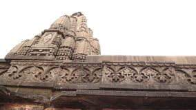 Exterior of the Trayambakeshwar Temple stock video footage