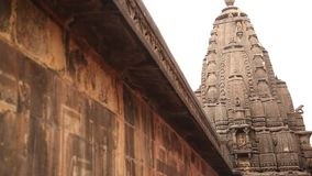 Exterior of the Trayambakeshwar Temple stock video