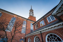 The exterior of the Trinity United Church of Christ in York, Pen. Nsylvania stock images