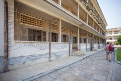 The exterior of Tuol Sleng Genoside Museum, Phnom Penh, Cambodia. Stock Photos