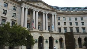 Exterior of the us environmental protection agency. The exterior of the us environmental protection agency building in Washington, DC stock footage