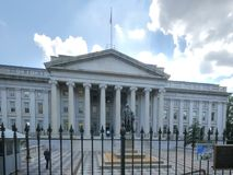 The exterior of the us treasury dept building in washington. Dc stock photos
