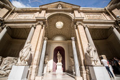 Exterior of the Vatican Museums. VATICAN - CIRCA SEPTEMBER 2014: Exterior of the Vatican Museums in Rome Italy Royalty Free Stock Photo