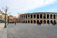 Exterior of Verona Arena in Italy Royalty Free Stock Photo